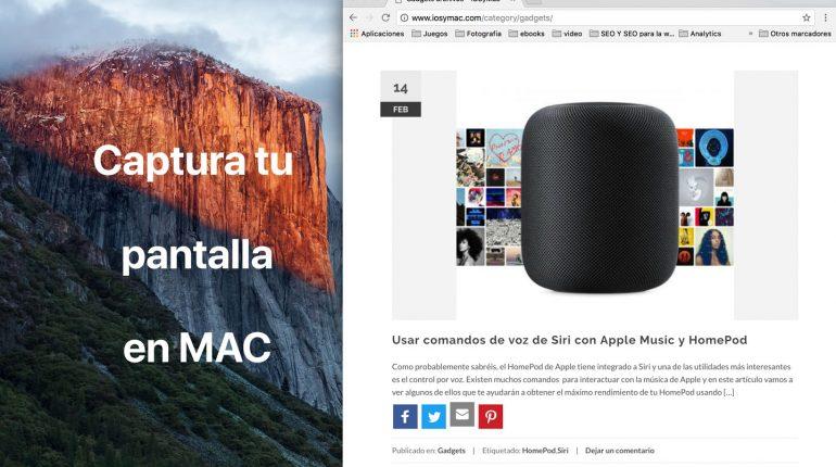 capturar pantalla Mac