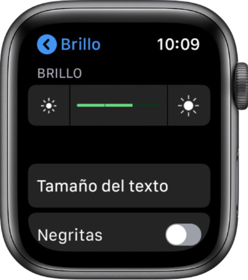 Ajuste brillo apple watch