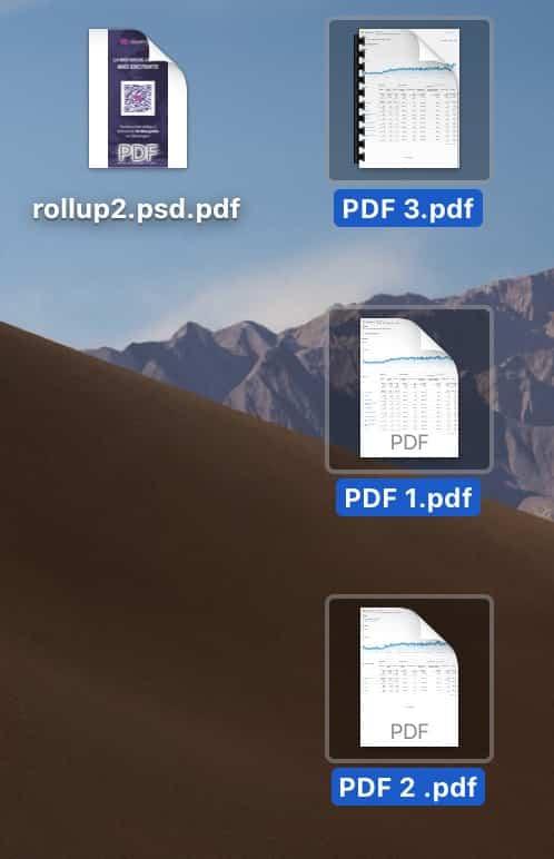 seleccionar los archivos pdf