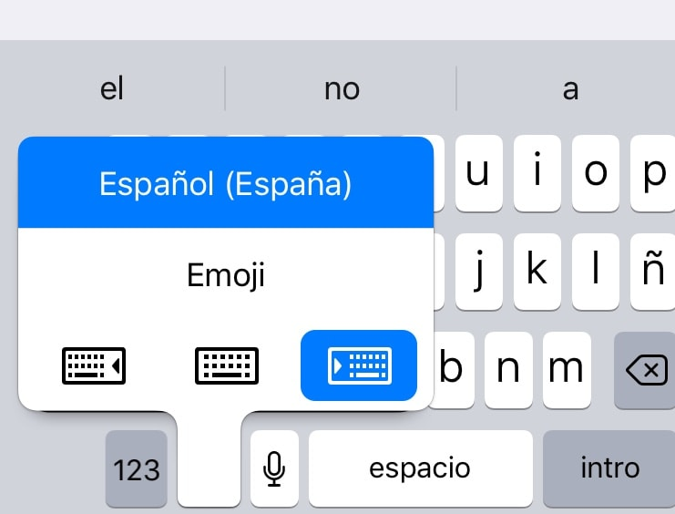 cambiar tipo teclado iphone