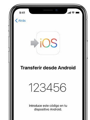 transferir android a iphone